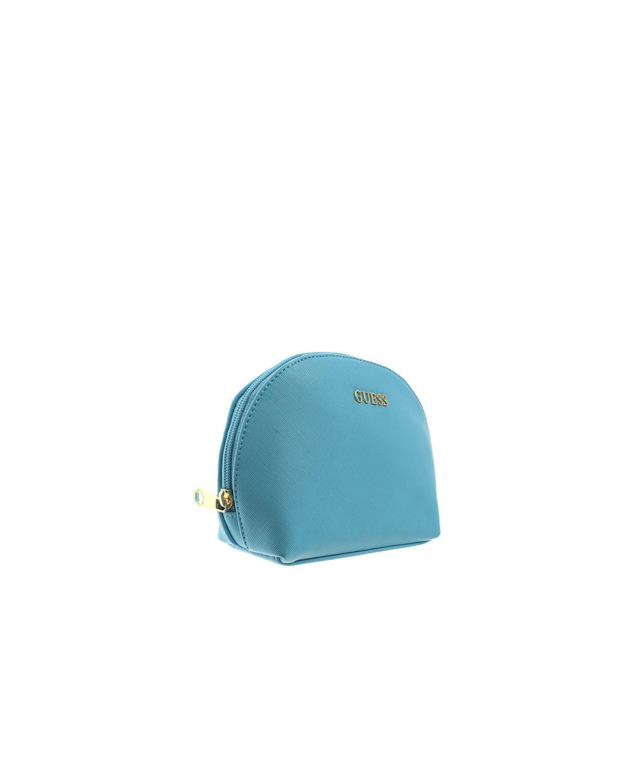 Guess Paloma Dome Makyaj Çantası PWPALOP8270 Mavi
