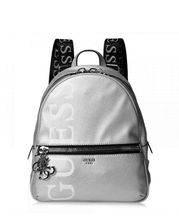 Guess Urban Chic Metallic Logo Backpack Kadın Sırt Çantası ML718433 Silver