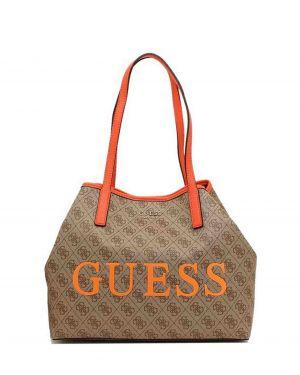 Guess Vikky Logo Kadın Çantası SL699523 Brown - Orange