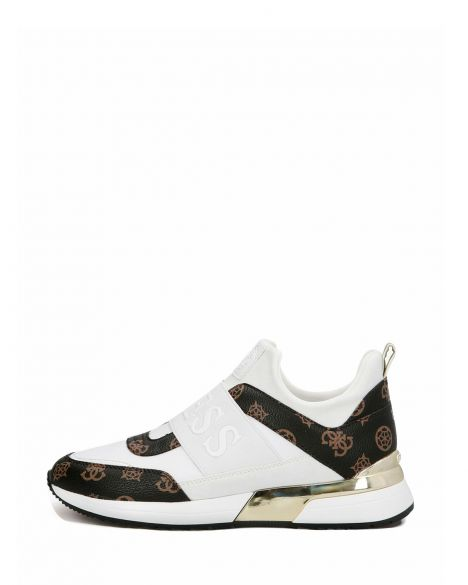 Guess Maygin/active Lady/leather Like Kadın Sneakers FL6MYIFAL12 White / Brown