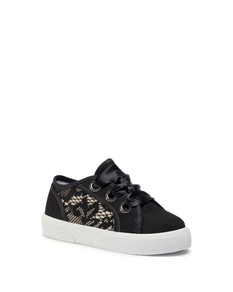 Guess Piuma Lace Kız Çocuk Sneakers FI7PILFAB12 Black
