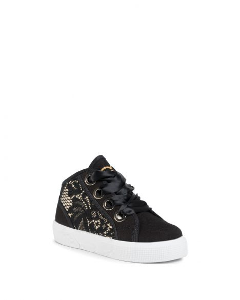 Guess Piuma Lace Mid Kız Çocuk Sneakers FI7PIMFAB12 Black