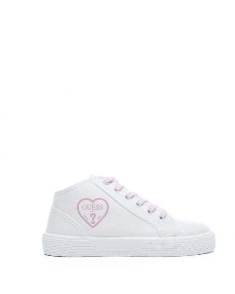 Guess Piuma Mid Kız Çocuk Sneakers FI7PAMFAB12 White