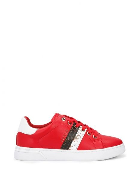 Guess Reel/active Lady/leather Like Kadın Sneakers FL5REEELE12 Red