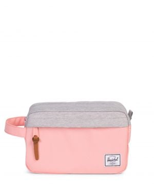 Herschel Chapter Aksesuar Çantası 10039 Peach/Light Grey Crosshatch Kulurtasche