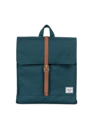 City Mid-Volume  Deep Teal/Tan Synthetic Leather