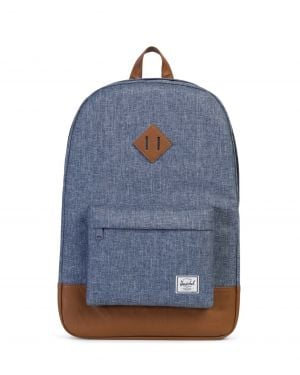 Herschel Heritage Sırt Çantası 10007 Dark Chambray Crosshatch/Tan Synthetic Leather
