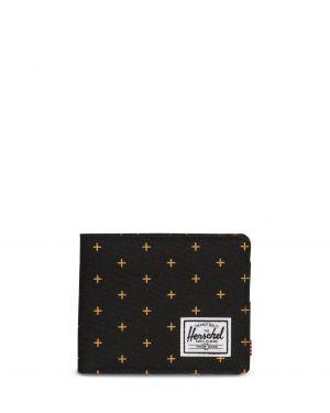 Herschel Roy Unisex Cüzdan 10363 Black Gridlock Gold