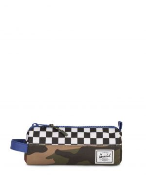 Herschel Settlement Case Kalem Kutusu 10071 Deep Ultramarine/Checker/Woodland Camo