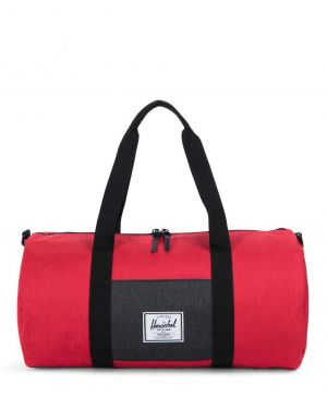 Herschel Sutton Mid-Volume Spor Çantası 10251 Barbados Cherry Crosshatch/Black Crosshatch