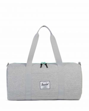 Herschel Sutton Mid-Volume Spor Çantası 10251 Light Grey Crosshatch/Lucite Green Zip