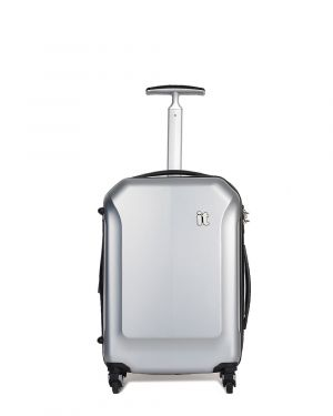 IT Luggage It Aerodynamic Kabin Boy Sert Yüzeyli Valiz 16-2128-04 Gümüş