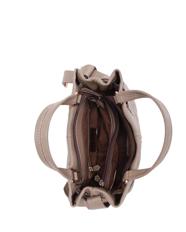 Kabara Leather Belt Deri Kadın Çantası 11513 Vizon Floter
