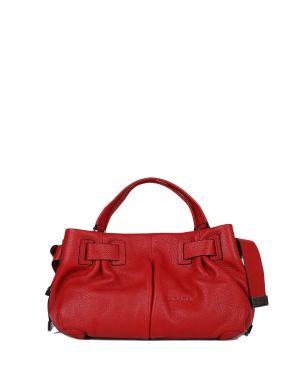 Kabara Leather Belt Deri Kadın Çantası 11513 Kırmızı Floter