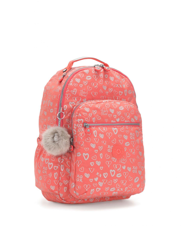 Kipling Seoul Go Bts Sırt Çantası K21316 Hearty Pink Met