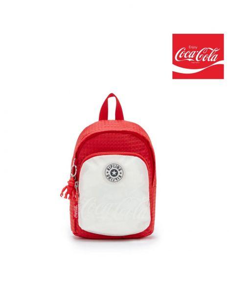 Kipling Delia Compact Coca-Cola + Sırt Çantası KI6409 CC Wild Red