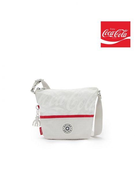 Kipling Sonja S Coca-Cola Çapraz Askılı Kadın Çantası KI7127 CC White Bone