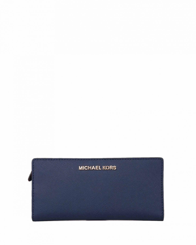 Michael Kors Jet Set Travel Lg Card Cse Carryall Leather 35F8GTVD7L Navy