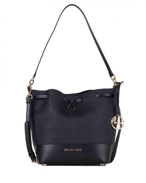 Michael Kors Trista Md Bucket Bag Leather 35H8GT7M2U Black/Black
