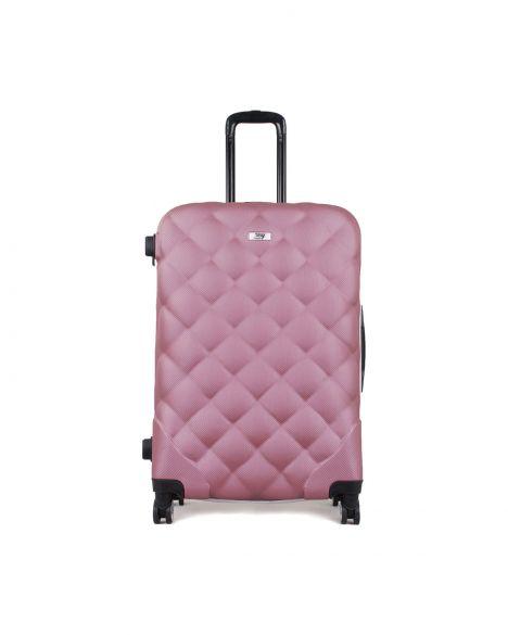 My Luggage Bicolor Büyük Boy Valiz 10135 Gül Kurusu - Beyaz