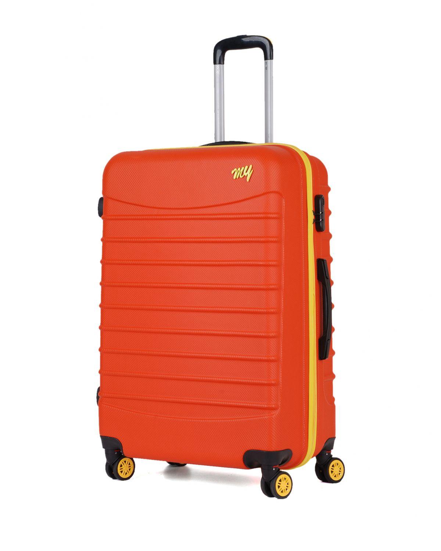 My Luggage Renkli Fermuar Detaylı Büyük Boy Valiz 1MY0101343 Turuncu