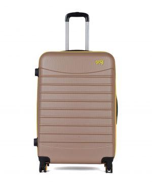 My Luggage Renkli Fermuar Detaylı Büyük Boy Valiz 1MY0101343 Altın