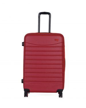 My Luggage Renkli Fermuar Detaylı Büyük Boy Valiz 1MY0101343 Bordo - Kırmızı