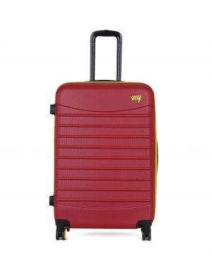 My Luggage Renkli Fermuar Detaylı Büyük Boy Valiz 1MY0101343 Bordo - Sarı