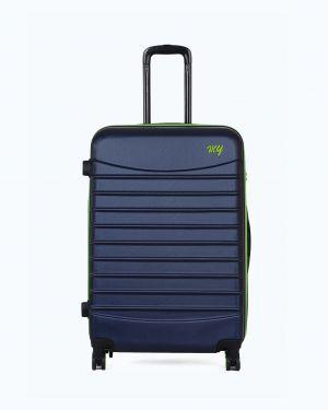 My Luggage Renkli Fermuar Detaylı Büyük Boy Valiz 1MY0101343 Lacivert - Yeşil