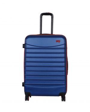 My Luggage Renkli Fermuar Detaylı Büyük Boy Valiz 1MY0101343 Mavi - Kırmızı