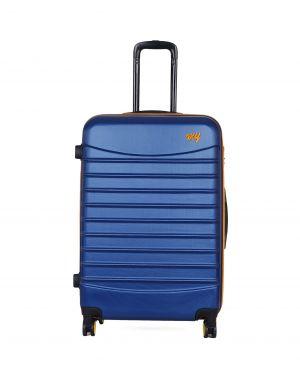 My Luggage Renkli Fermuar Detaylı Büyük Boy Valiz 1MY0101343 Mavi - Turuncu