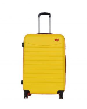 My Luggage Renkli Fermuar Detaylı Büyük Boy Valiz 1MY0101343 Sarı - Kırmızı