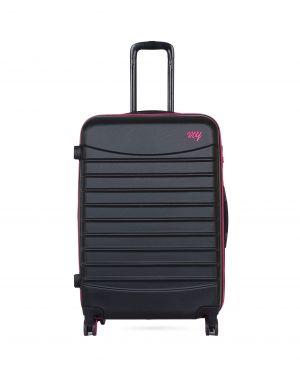 My Luggage Renkli Fermuar Detaylı Büyük Boy Valiz 1MY0101343 Siyah - Mor