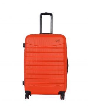 My Luggage Renkli Fermuar Detaylı Büyük Boy Valiz 1MY0101343 Turuncu - Turuncu