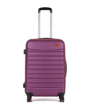 My Luggage Renkli Fermuar Detaylı Orta Boy Valiz 1MY0101343 Mürdüm