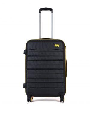 My Luggage Renkli Fermuar Detaylı Orta Boy Valiz 1MY0101343 Siyah