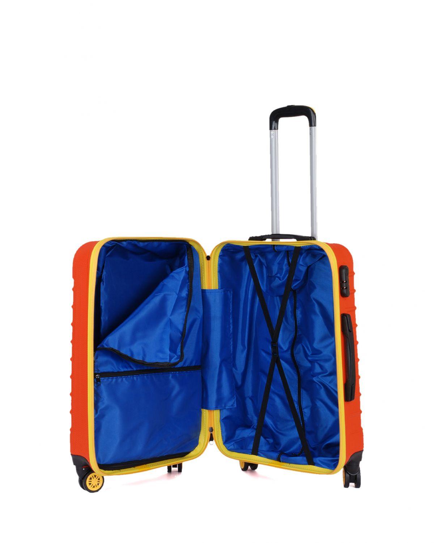 My Luggage Renkli Fermuar Detaylı Orta Boy Valiz 1MY0101343 Turuncu