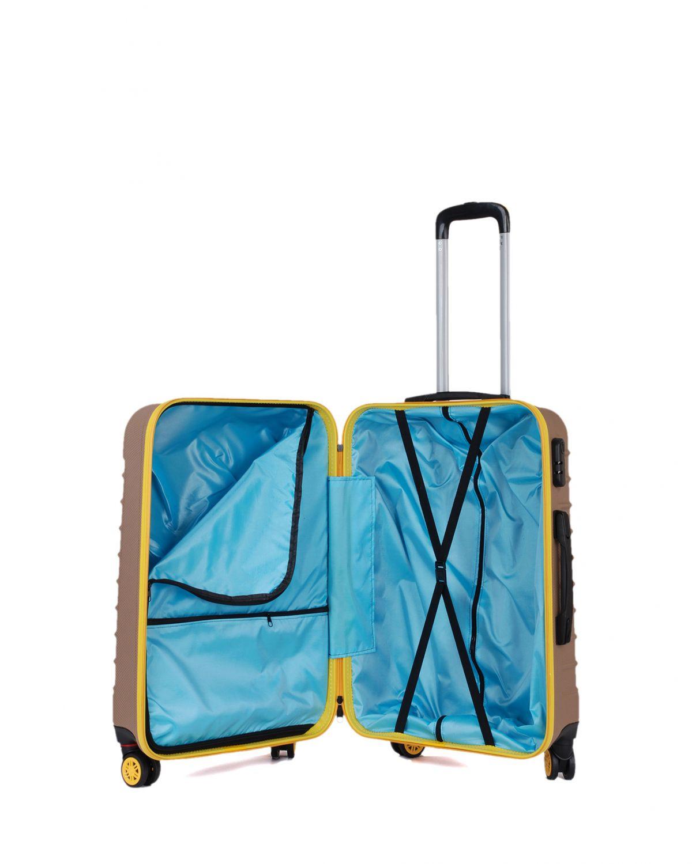 My Luggage Renkli Fermuar Detaylı Orta Boy Valiz 1MY0101343 Altın