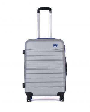 My Luggage Renkli Fermuar Detaylı Orta Boy Valiz 1MY0101343 Gümüş - Mavi