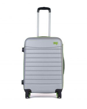My Luggage Renkli Fermuar Detaylı Orta Boy Valiz 1MY0101343 Gümüş - Yeşil