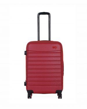 My Luggage Renkli Fermuar Detaylı Orta Boy Valiz 1MY0101343 Bordo - Kırmızı