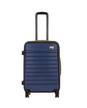 My Luggage Renkli Fermuar Detaylı Orta Boy Valiz 1MY0101343 Lacivert - Sarı