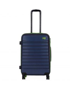 My Luggage Renkli Fermuar Detaylı Orta Boy Valiz 1MY0101343 Lacivert - Yeşil