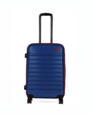 My Luggage Renkli Fermuar Detaylı Orta Boy Valiz 1MY0101343 Mavi - Kırmızı