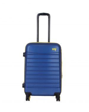 My Luggage Renkli Fermuar Detaylı Orta Boy Valiz 1MY0101343 Mavi - Sarı