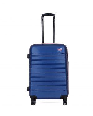 My Luggage Renkli Fermuar Detaylı Orta Boy Valiz 1MY0101343 Mavi - Pudra