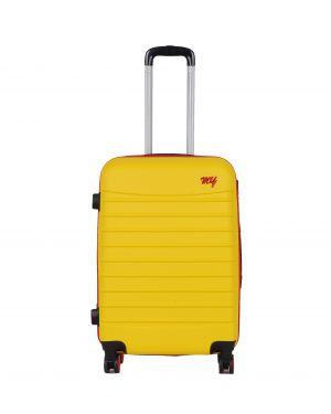 My Luggage Renkli Fermuar Detaylı Orta Boy Valiz 1MY0101343 Sarı - Kırmızı