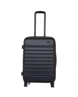 My Luggage Renkli Fermuar Detaylı Orta Boy Valiz 1MY0101343 Siyah - Siyah