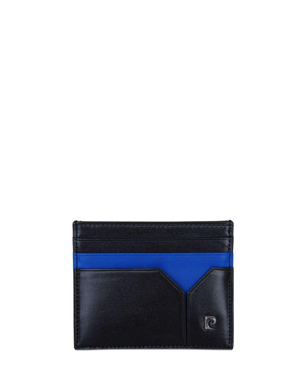 Pierre Cardin 2 Renkli Erkek Kartlık 0242 Siyah- Saks Mavi