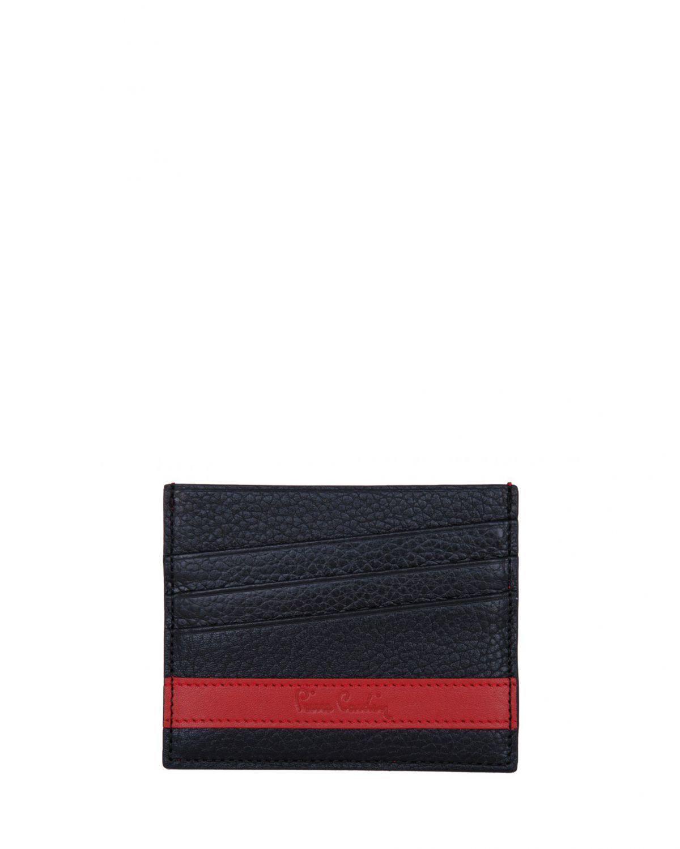 Pierre Cardin Çift Taraflı Erkek Kartlık 0262 Siyah - Kırmızı